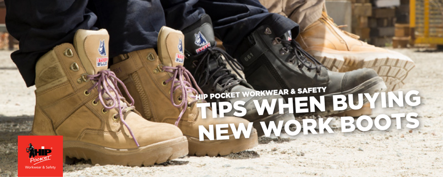 Tips when buying new work boots