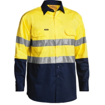 3M Taped Cool Lightweight Hi Vis Mens Shirt - Long Sleeve