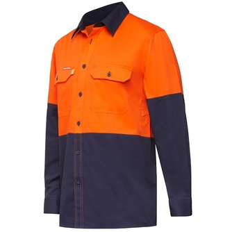Koolgear - Ventilated Hi-Vis Two Tone Shirt Long Sleeve