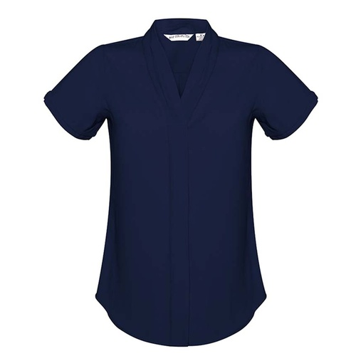 Hip Pocket Workwear - Ladies Madison Short Sleeve Blouse