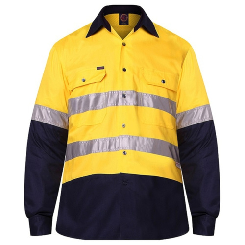 2 Tone Vented Light Weight Open Front S/S Shirt with 3M 8910 Reflective Tape